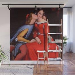 """Jean-Auguste-Dominique Ingres """"Francesca and Paolo (Francesca da Rimini and Paolo Malatesta)"""" 1. Wall Mural"""