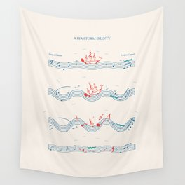 Nautical Notation Wall Tapestry