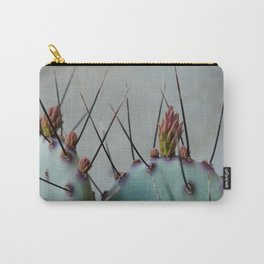 Purple Prickly in Bloom Carry-All Pouch