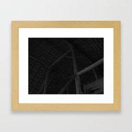 Barn Rafters Framed Art Print