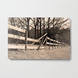 Broken Fence Metal Print