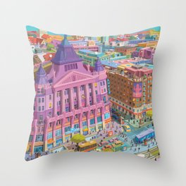 Anker Palace, Budapest Throw Pillow