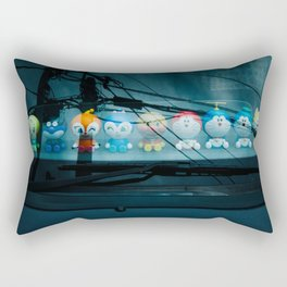 Toys on the Dashboard Rectangular Pillow