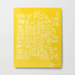 denver neighborhood print [hand drawn] Metal Print