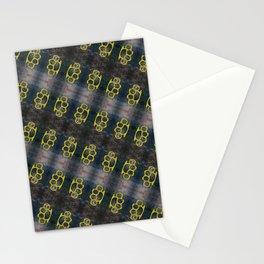 Brass Knuckles Pattern Stationery Cards