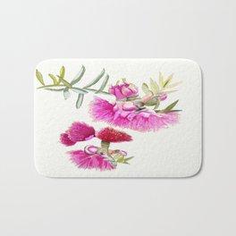 Australian Pink Gumnut Gum Flower  Bath Mat