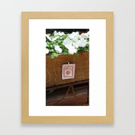 Deck Plant Framed Art Print