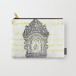 Grandfather clock poem stippling Carry-All Pouch