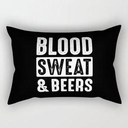Blood, Sweat & Beers Rectangular Pillow