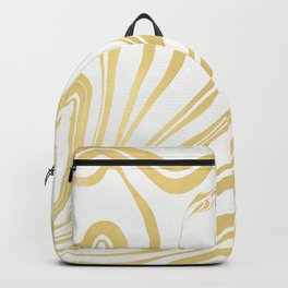 Bronze Copper Gold Rush Marble Ink Swirl Backpack