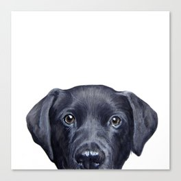 Labrador with white background Dog illustration original painting print Canvas Print
