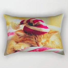 Kitty Christmas Rectangular Pillow