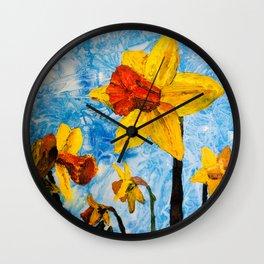 Daffy Daffs of Spring Wall Clock