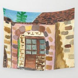Stone Villa Wall Tapestry