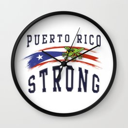 PUERTO RICO STRONG Wall Clock