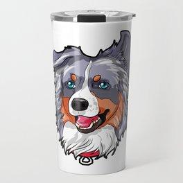 Australian Shepherd Dog Puppy Doggie Present Travel Mug