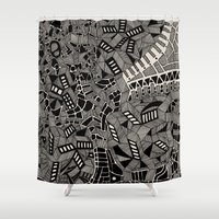 marina Shower Curtains featuring - marina - by Magdalla Del Fresto