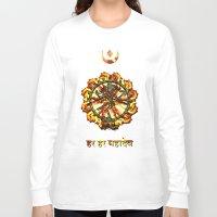 shiva Long Sleeve T-shirts featuring Shiva  by Khana's Web