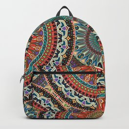 Colorful abstract ethnic floral mandala pattern Backpack