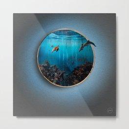 Portal Bajo el mar Metal Print