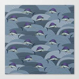 Swordfish Espadon | Pattern Art Canvas Print