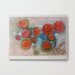 Flowers for Zoe Metal Print