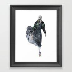 leather & ballet skeleton Framed Art Print