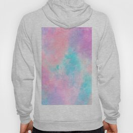 Bright pink turquoise unicorn watercolor paint background Hoody