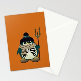 Harold The Penguin.Halloween character Stationery Cards