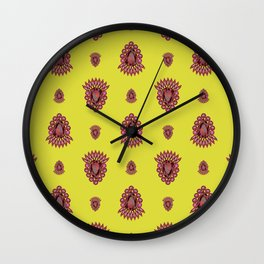 Jewelbox: Ruby Brooch on Citrine Wall Clock
