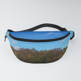 Mirrored Blue Fanny Pack