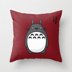 Totoro Pop Art - Red Version Throw Pillow