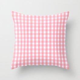 Pink Gingham Throw Pillow