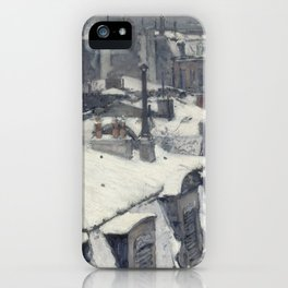 Gustave Caillebotte - Rooftops in the Snow iPhone Case