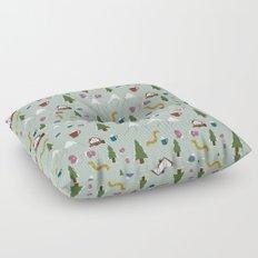 Winter Vacation Floor Pillow