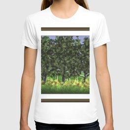Trees Shading Flowers T-shirt