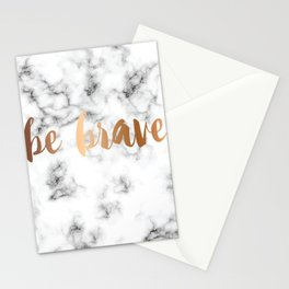 Be Brave Marble 045 Stationery Cards