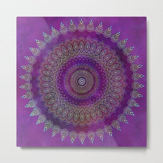 Precious Mandala in rich purple and pink tones Metal Print