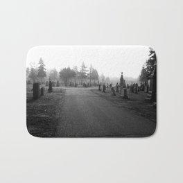 Dark Cemetery Bath Mat