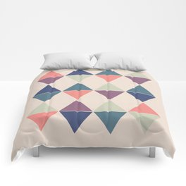 Colorful Triangle Pairs Comforters