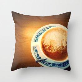 Cappuccino Throw Pillow