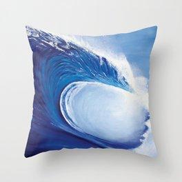 Ocean Wave Painting Throw Pillow