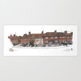 Norwich Walk, Burnt Oak Art Print