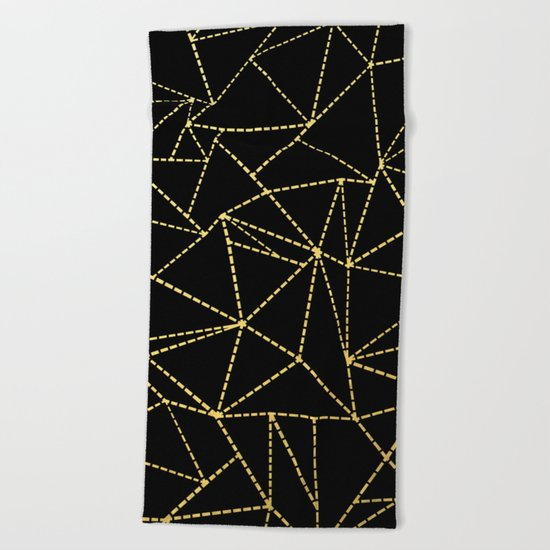 Ab Dotted Gold Beach Towel