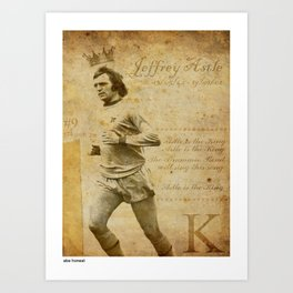 The King - Jeff Astle Art Print