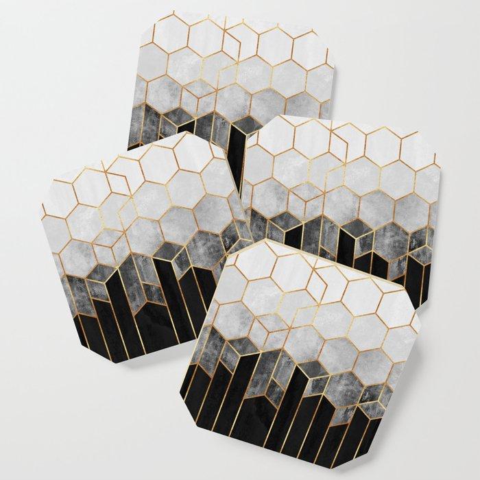 Charcoal Hexagons Coaster