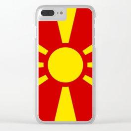 Macedonia Flag Clear iPhone Case