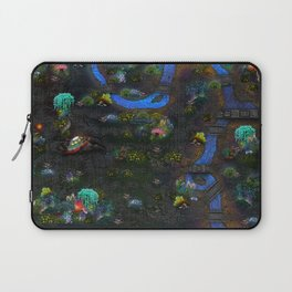 Game map for fantasy world Alien planet Pod's transmission game art Laptop Sleeve