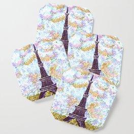 Eiffel Tower Pointillism by Kristie Hubler Coaster