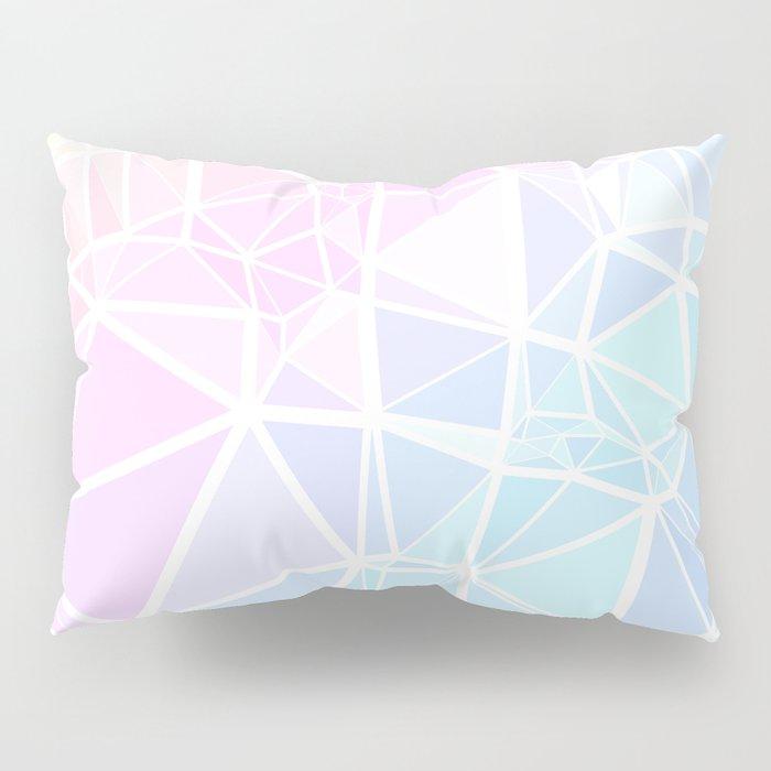 Pastel Triangles 1 Pillow Sham